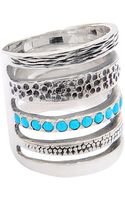 Pamela Love Single Cage Turquoise Ring - Lyst