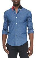 Band Of Outsiders Contrastcollar Buttondown Shirt - Lyst