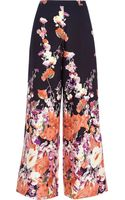 River Island Navy Floral Border Print Palazzo Trousers - Lyst