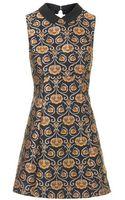 Topshop Floral Jacquard Dress - Lyst