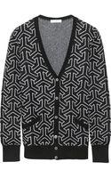 Equipment Sullivan Intarsia Wool and Cashmereblend Cardigan - Lyst