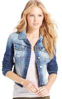 Jessica Simpson Pixie Denim Jacket - Lyst