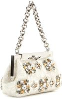 Dolce & Gabbana Sara Crystalembellished Shoulder Bag - Lyst