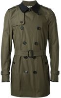 Burberry London Contrasting Collar Trench Coat - Lyst