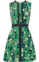 M Missoni Printed Silk Crepe De Chine Dress - Lyst