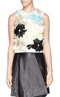 3.1 Phillip Lim Floral Appliqué Sleeveless Crop Top - Lyst