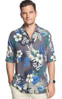 Tommy Bahama Gigantic Floral Silk Shirt - Lyst