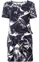 Kenzo Printed Ruffled Shift Dress - Lyst