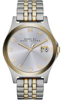 Marc By Marc Jacobs Womens The Slim Twotone Stainless Steel Bracelet Watch 36mm - Lyst