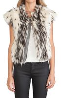 Twelfth Street By Cynthia Vincent Faux Fur Vest - Lyst