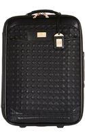River Island Black Quilted Wheelie Suitcase - Lyst