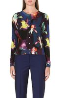 Paul Smith Black Label Floral Wool Blend Cardigan  - Lyst