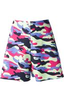 Carven Camouflage Print Shorts - Lyst