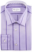 Robert Graham Striped Herringbone Sport Shirt - Lyst