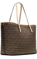 Michael by Michael Kors Jet Set Studded Travel Tote - Lyst