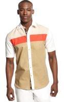 Sean John Colorblocked Shirt - Lyst