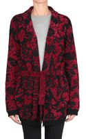 Laneus Alpaca and Viscose Jacquard Cardigan - Lyst