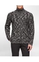 Calvin Klein Slim Fit Wool Full Zip Sweater - Lyst