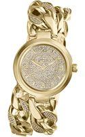 Michael Kors Womens Ellie Pavè Goldtone Stainless Steel Double Link Bracelet Watch 38mm - Lyst