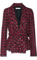 Oscar de la Renta Checked Tweed Jacket - Lyst