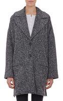 ATM Tweed Knit Oversize Coat - Lyst