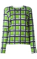 Marc By Marc Jacobs Checked Sweatshirt - Lyst