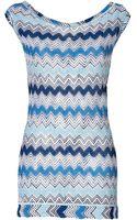 Missoni Mare Zigzag Knit Mini-dress - Lyst
