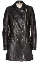 Burberry Brit Harlestone Leather Coat - Lyst