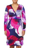 Melissa Masse Printed Long-Sleeve Dress  - Lyst