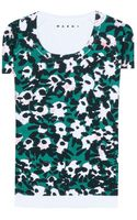 Marni Cotton Printed T-shirt - Lyst