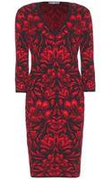 Alexander McQueen Jacquard Stretch Dress - Lyst