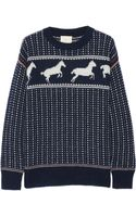 Band Of Outsiders Fair Isle Horses Cottonblend Sweater - Lyst