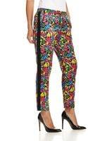 Armani Jeans Floral Silk Blend Pants with Side Grosgrain Stripe - Lyst