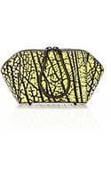 Alexander Wang Chastity Make Up Pouch in Contrast Tip Citron - Lyst