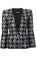 Balmain Embellished Houndstooth Jacket - Lyst