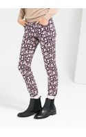 Mango Flower Print Trousers - Lyst