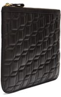 Pierre Hardy Large Embossed Leather Cube Print Pouch - Lyst