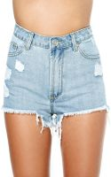 Nasty Gal Unif Hangover Shorts Medium Blue - Lyst