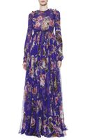 Dolce & Gabbana Owl  Squirrelprint Gown with Jewel Button Shoulders - Lyst