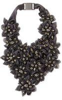 Brunello Cucinelli Swarovski Crystal Flower Bib Necklace - Lyst