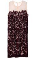 By Malene Birger Guiliana Plum Lace Dress - Lyst
