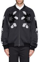 3.1 Phillip Lim Floral Embroidery Bomber Jacket - Lyst