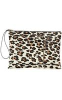 Marni Animal-print Calf-hair Clutch - Lyst