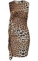 Just Cavalli Leopard Print Jersey Dress - Lyst