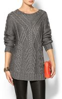 525 America Traveling Cable Knit Sweater - Lyst
