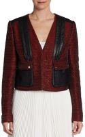 Jason Wu Cropped Leathertrimmed Jacket - Lyst