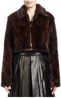 Givenchy Longsleeve Cropped Fur Jacket - Lyst
