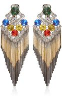 Iosselliani Multicolour Gem Fringed Clipon Earrings - Lyst