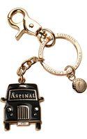 Aspinal London Black Taxi Key Ring - Lyst