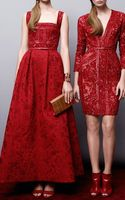 Elie Saab Embroidered Tulle and Brocade Gown - Lyst